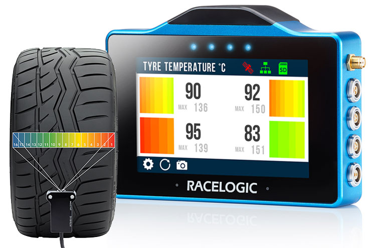 VBOX Touch Tyre Temp Screen